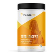 Thomas Labs Total Digest Enzyme & Probiotic Powder Dog & Cat Supplement, 16-oz jar
