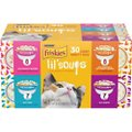 Friskies Lil' Soups Broths Variety Pack Lickable Cat Treats
