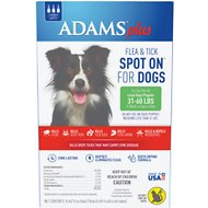 Adams Plus Flea & Tick Spot On for Large Dogs (31-60 lbs), 3 treatments