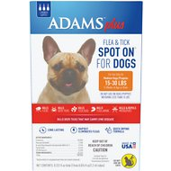 Adams Plus Flea & Tick Spot On for Medium Dogs (15-30 lbs), 3 treatments