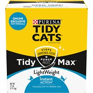 Tidy Max LightWeight Instant Action Clumping Cat Litter, 17-lb box