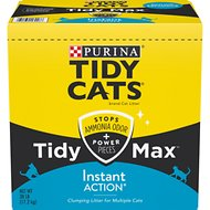 Tidy Max Instant Action Clumping Cat Litter, 38-lb box