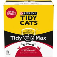 Tidy Max Lightweight 24/7 Performance Clumping Clay Cat Litter, 17-lb box