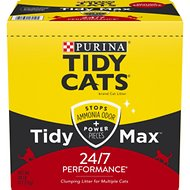 Tidy Max 24/7 Performance Clumping Cat Litter, 38-lb box