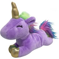 fouFIT Unicorn Plush Dog Toy, Lilac, Small