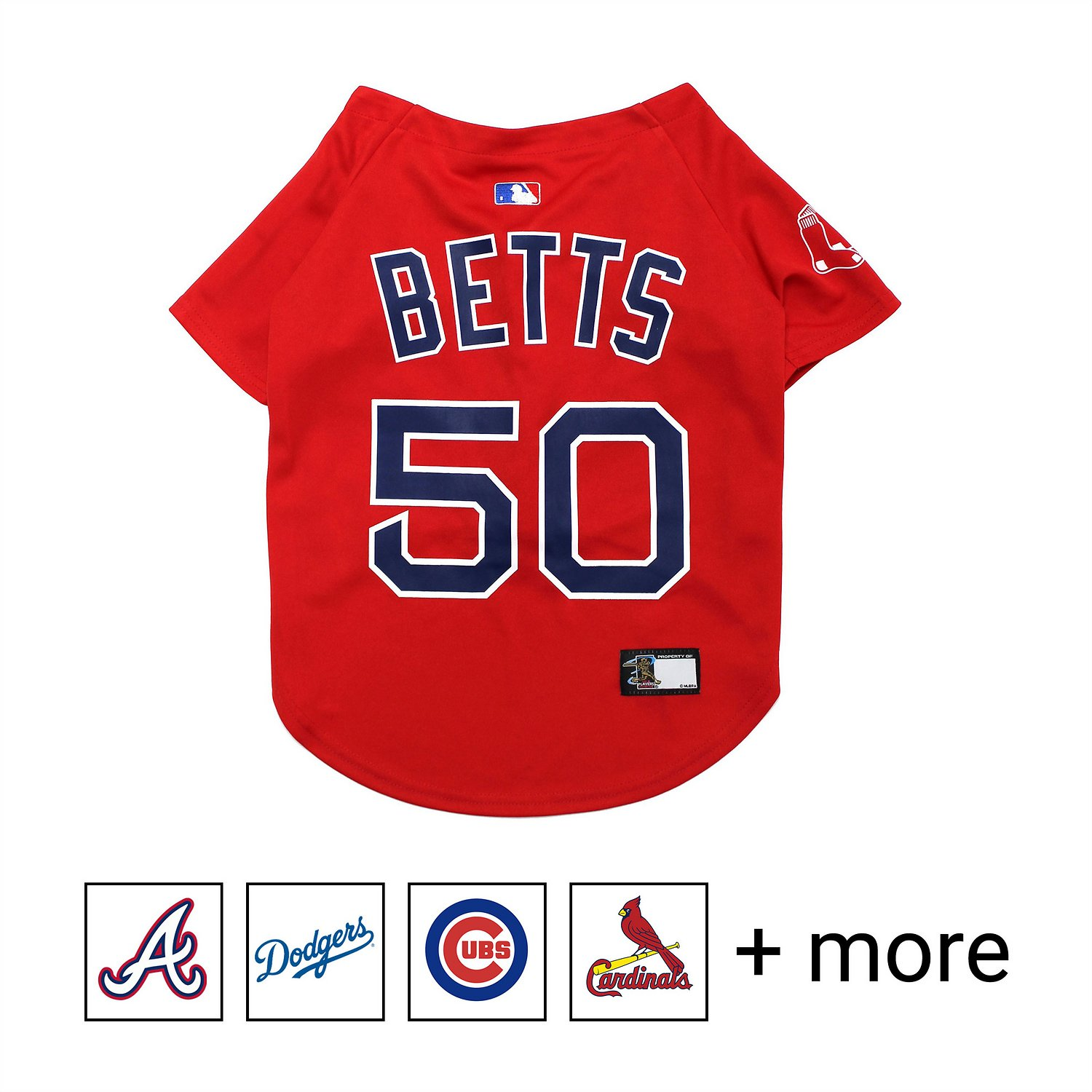 info for a6644 c4c36 Pets First MLB Players Dog & Cat Jersey, Mookie Betts, X-Small
