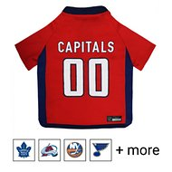 Pets First NHL Hockey Dog & Cat Jersey, Washington Capitals, Small