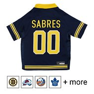 Pets First NHL Hockey Dog & Cat Jersey, Buffalo Sabres, Large