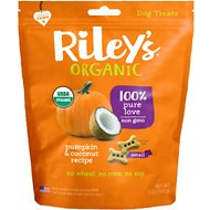 Riley's Organic Pumpkin & Coconut Bone Dog Treats, 5-oz, Small