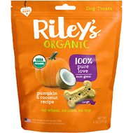 Riley's Organic Pumpkin & Coconut Bone Dog Treats, 5-oz, Large