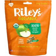 Riley's Organic Tasty Apple Bone Dog Treats, 5-oz, Small