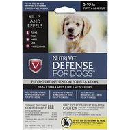 Nutri-Vet K9 Defense Flea & Tick Treatment for Dogs (5-10 pounds), 3 treatment