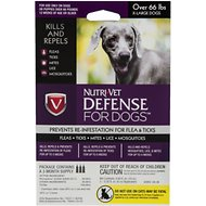 Nutri-Vet K9 Defense Flea & Tick Treatment for Dogs (over 66 pounds), 3 treatments
