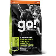 Go! Solutions Carnivore Grain-Free Chicken, Turkey + Duck Puppy Recipe Dry Dog Food, 22-lb bag