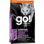 Go! Solutions Carnivore Grain-Free Chicken, Turkey + Duck Recipe Dry Cat Food, 16-lb bag