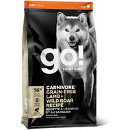 Go! Solutions Carnivore Grain-Free Lamb + Wild Boar Recipe Dry Dog Food , 22-lb bag
