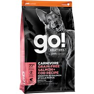 Go! Solutions Carnivore Grain-Free Salmon + Cod Recipe Dry Dog Food , 3.5-lb bag