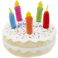 Frisco Plush Squeaking Birthday Cake Dog Toy, Small/Medium