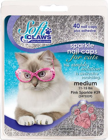 Soft Claws Cat Nail Caps, 40 count