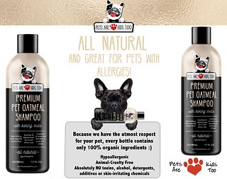 Pets Are Kids Too Premium Oatmeal Pet Shampoo, 17-oz bottle