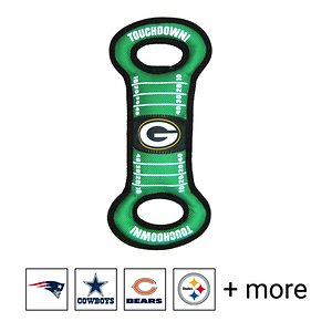 Pets First NFL Field Dog Toy, Green Bay Packers