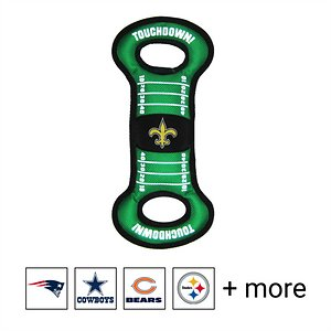 Pets First NFL Field Dog Toy, New Orleans Saints