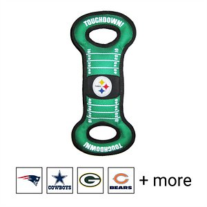Pets First NFL Field Dog Toy, Pittsburgh Steelers