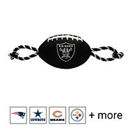 Pets First NFL Football Rope Dog Toy, Oakland Raiders