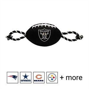 Pets First NFL Football Rope Dog Toy, Raiders