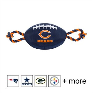 Pets First NFL Football Rope Dog Toy, Chicago Bears