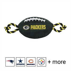 Pets First NFL Football Rope Dog Toy, Green Bay Packers