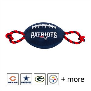 Pets First NFL Football Rope Dog Toy, New England Patriots