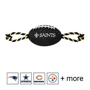 Pets First NFL Football Rope Dog Toy, New Orleans Saints