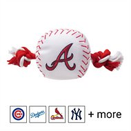 Pets First MLB Baseball Rope Dog Toy, Atlanta  Bravers