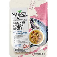 Purina Beyond Grain-Free Alaskan Salmon Recipe in Broth Wet Dog Food Complement, 2-oz pouch, case of 16