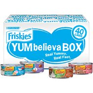 Friskies YUMbelievaBOX YUM-credible Surprises Variety Pack Canned Cat Food, 5.5-oz can, case of 40