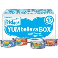 Friskies YUMbelievaBOX YUM-sational Treasures Variety Pack Canned Cat Food, 5.5-oz can, case of 40