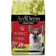 AvoDerm Natural Grain-Free Beef & Vegetables Formula Dry Dog Food, 24-lb bag
