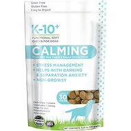K-10+ Calming Supplement Functional Dog Soft Chews , 30 count