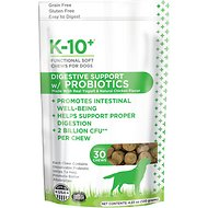 K-10+ Digestive Support with Probiotics Supplement Functional Dog Soft Chews, 30 count