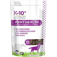 K-10+ Joint Health with Glucosamine Supplement Functional Dog Soft Chews, 30 count