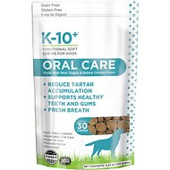 K-10+ Oral Care Dental Supplement Functional Dog Soft Chews, 30 count