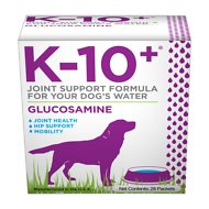 K-10+ Glucosamine for Joint Health Powder Dog Supplement, 28 count