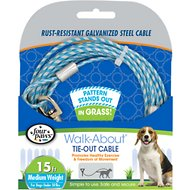 Four Paws Medium Weight Patterned Dog Run Cable, 15 ft.
