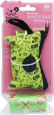 Wags Wiggles Dispenser With Waste Bags Pinele Spike Scented 30 Count