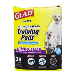 Glad For Pets Activated Carbon Jumbo Dog Training Pads, 28 x 30-in, 30 count, Unscented
