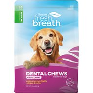 TropiClean Fresh Breath Regular Hip & Joint Dental Dog Chews, 10 count