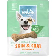 TropiClean Fresh Breath Small Skin & Coat  Dental Dog Chews, 20 count