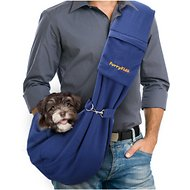 FurryFido Adjustable Pet Sling With Pocket, Navy