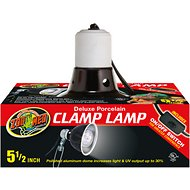 Zoo Med Deluxe Porcelain Clamp Lamp, 5.5-in